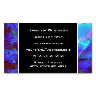 Blue and Purple Abstract Design Magnetic Business Cards