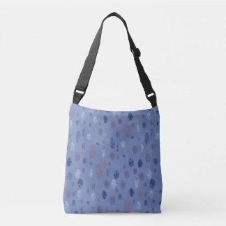 Blue and Purple Abstract Raindrops Crossbody Bag