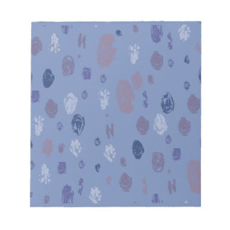 Blue and Purple Abstract Raindrops Notepad
