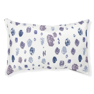 Blue and Purple Abstract Raindrops Pet Bed