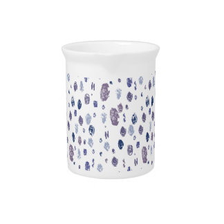 Blue and Purple Abstract Raindrops Pitcher