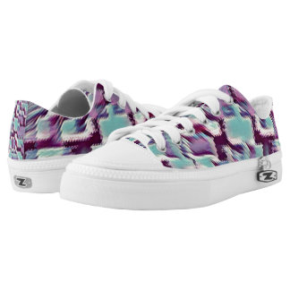 Blue and Purple Blocks Low Tops