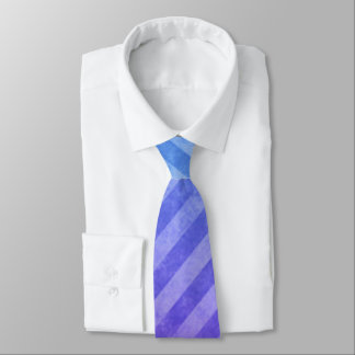 Blue and Purple Faded Stripes Tie
