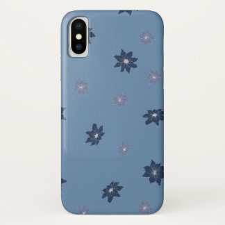 Blue and Purple Flowers iPhone X Case