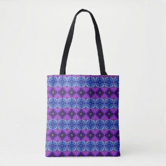 Blue and Purple  Forest Tote Bag