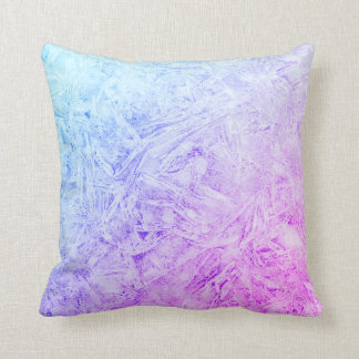 Blue and purple frost design cushion