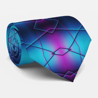 Blue And Purple Gradient Abstract Pattern Tie