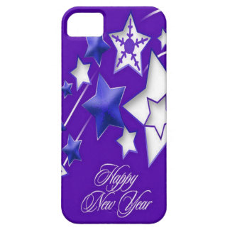 Blue and Purple Happy New Year Shooting Stars iPhone 5 Cover