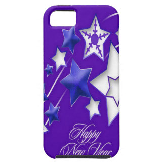 Blue and Purple Happy New Year Shooting Stars iPhone 5 Covers