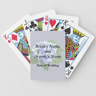 Blue and Purple Hydrangea Poker Deck