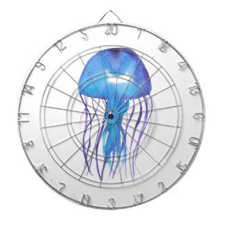 Blue and Purple Jellyfish Dartboard