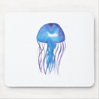 Blue and Purple Jellyfish Mouse Pad