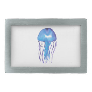 Blue and Purple Jellyfish Rectangular Belt Buckle