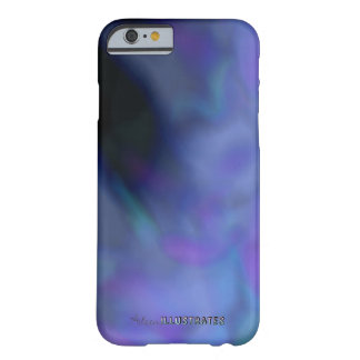 blue and purple marbled phone case