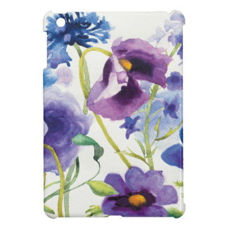 Blue and Purple Mixed Garden Cover For The iPad Mini