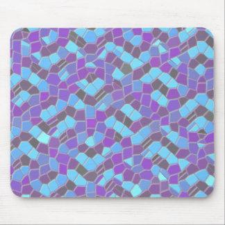 Blue And Purple Mosaic Mousepad