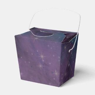 Blue and Purple Nebula Favour Box