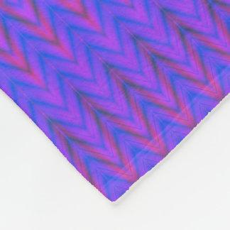 Blue and Purple Ombre Chevron Fleece Blanket