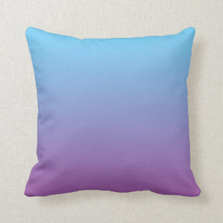 """""""Blue And Purple Ombre"""" Throw Pillow"""
