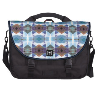 Blue And Purple Plaid Pattern Laptop Bags
