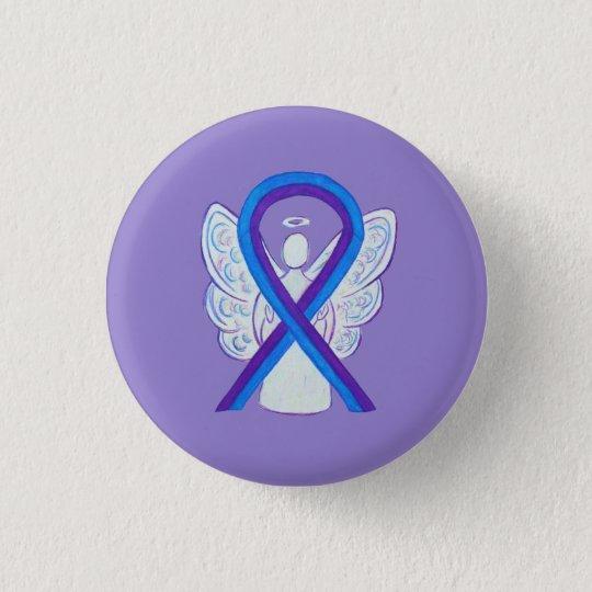 Blue and Purple Ribbon Awareness Angel Pins