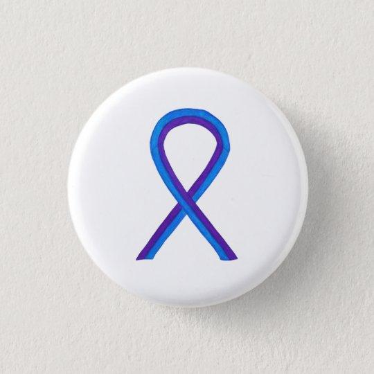 Blue and Purple Ribbon Awareness Custom Pins