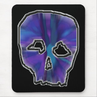 Blue and Purple Skull. Mouse Pad
