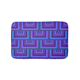 Blue and purple square scales bath mats
