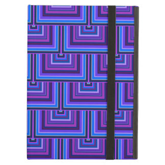 Blue and purple square scales iPad air case
