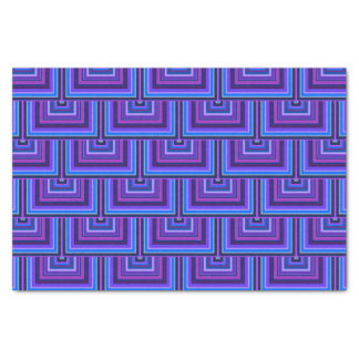 Blue and purple square scales tissue paper