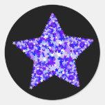 Blue and Purple Star of Stars Round Sticker