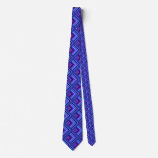 Blue and purple stripes scale pattern tie