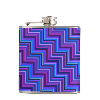 Blue and purple stripes stairs flasks