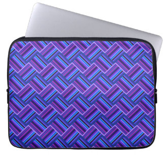 Blue and purple stripes weave computer sleeve