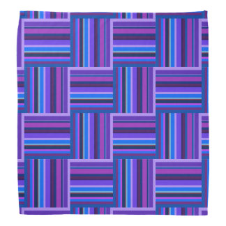 Blue and purple stripes weave pattern bandana