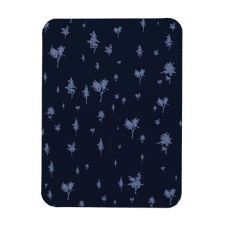 Blue and Purple Trees Magnet
