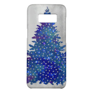 Blue and Purple watercolor christmas tree Case-Mate Samsung Galaxy S8 Case