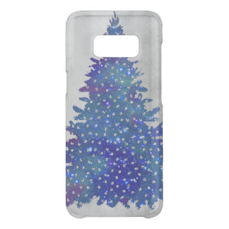 Blue and Purple watercolor christmas tree Uncommon Samsung Galaxy S8 Case