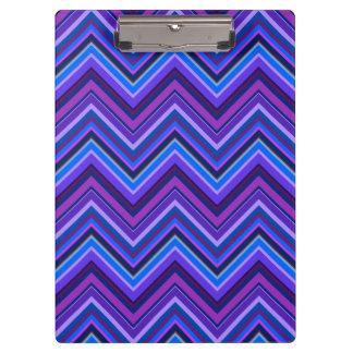 Blue and purple zigzag stripes clipboard