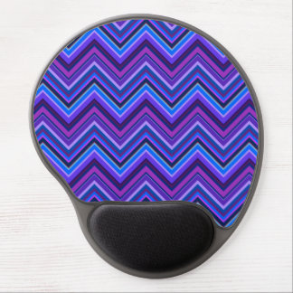 Blue and purple zigzag stripes gel mouse pad