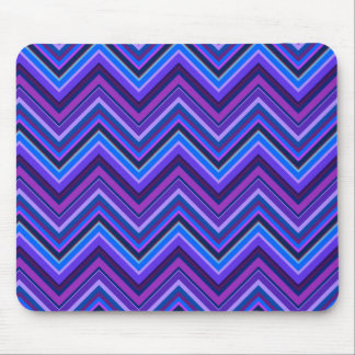 Blue and purple zigzag stripes mouse pad