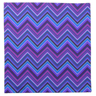 Blue and purple zigzag stripes napkin