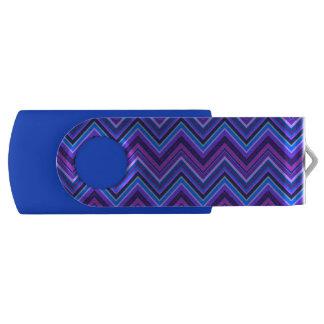 Blue and purple zigzag stripes USB flash drive