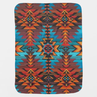 Blue and Red Aztec Buggy Blankets