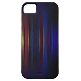 Blue and red blurred stripes pattern case for the iPhone 5
