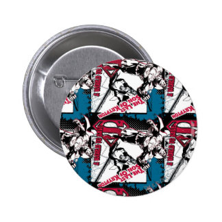 Blue and Red Collage 6 Cm Round Badge