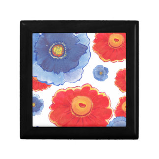 Blue and Red_Floral Wallpaper Gift Box
