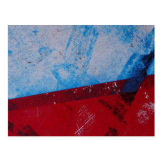 Blue and Red Graffiti Style Postcard