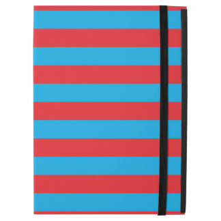 """Blue and Red Horizontal Stripes iPad Pro 12.9"""" Case"""