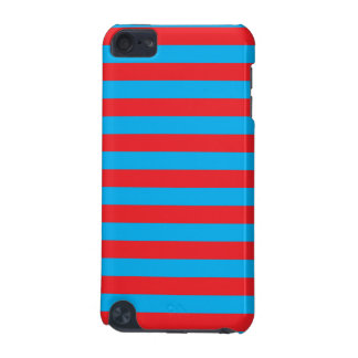 Blue and Red Horizontal Stripes iPod Touch 5G Covers